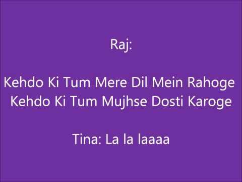 Mujhse Dosti Karoge Lyrics
