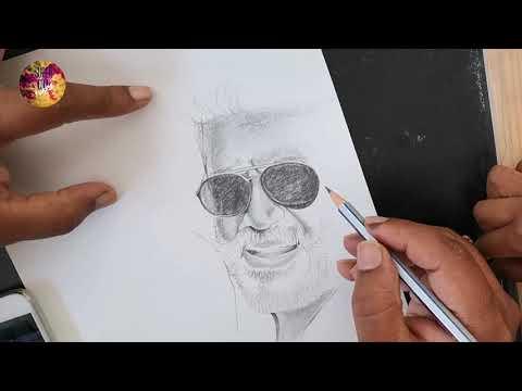 Drawing Thala Ajith | how to draw Ajith | Quick pencil sketch | pencil drawing tutorial thumbnail