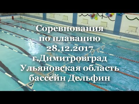 Первенство города Димитровграда по плаванию 28.12.2017. Бассейн Дельфин