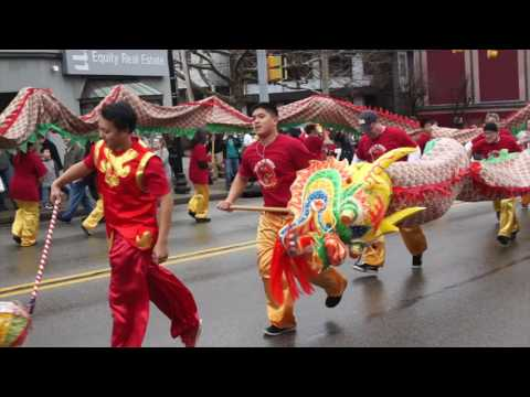 Lunar New Year parade in Squirrel Hill