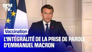 Vaccination: l'intégralité de la prise de parole d'Emmanuel Macron en marge du Conseil européen