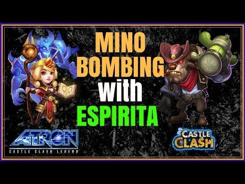 MINO BOMBING WITH ESPIRITA IN GUILD WARS VS EMPOWERED BASES - CASTLE CLASH