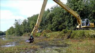 Download Long Reach Excavator Dredging Canal Mp3 and Videos