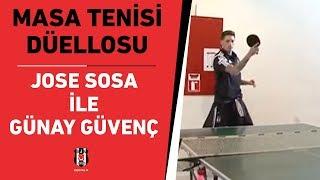 Jose Sosa ile Günay Güvenç'in Masa Tenisi Düellosu - BJK TV