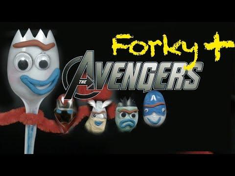 CÓMO Hacer A FORKY De TOY STORY 4 Y TRANSFORMARLO En VENGADORES 😱 (Iron Man, Thor..) | Te Digo Cómo