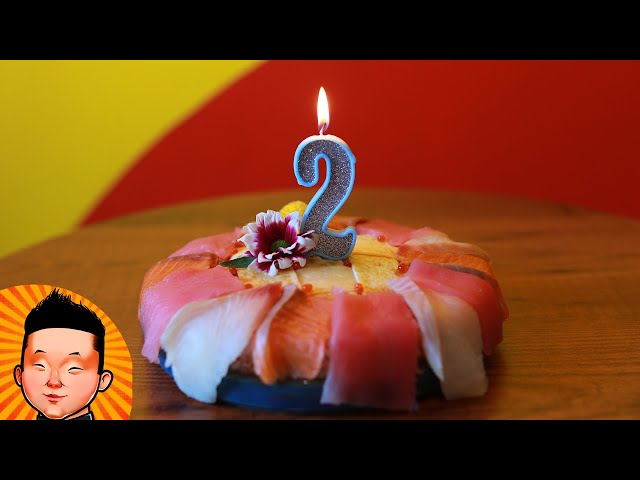 НЕОБЫЧНЫЙ СУШИ-ТОРТ! Отмечали День Рождения BUDUSUSHI