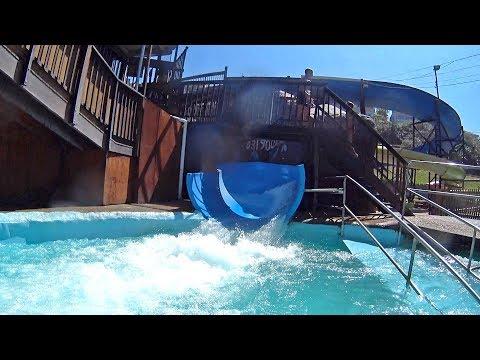 Blue Water Slide at Splash Waterworld