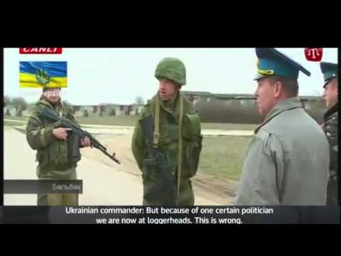 Russian soldiers fire warning shots in Ukraine with Subtitles