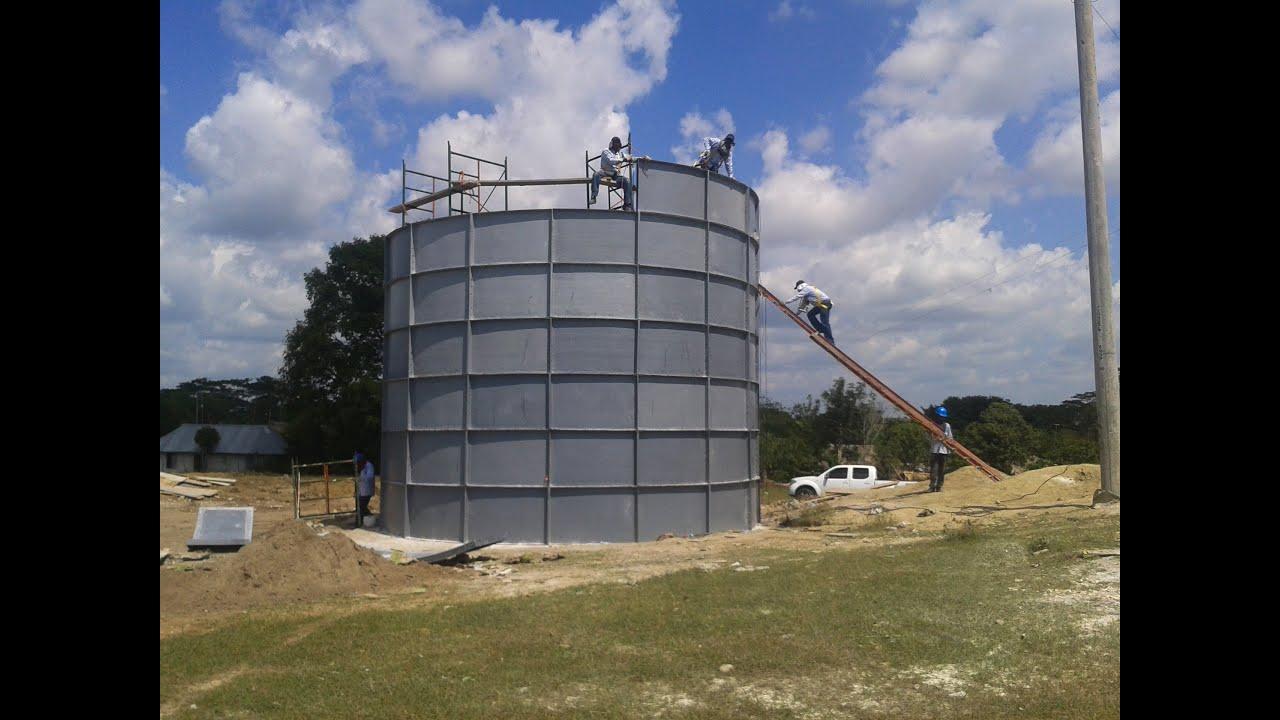 Tanques de almacenamiento de agua youtube for Estanques para almacenar agua potable