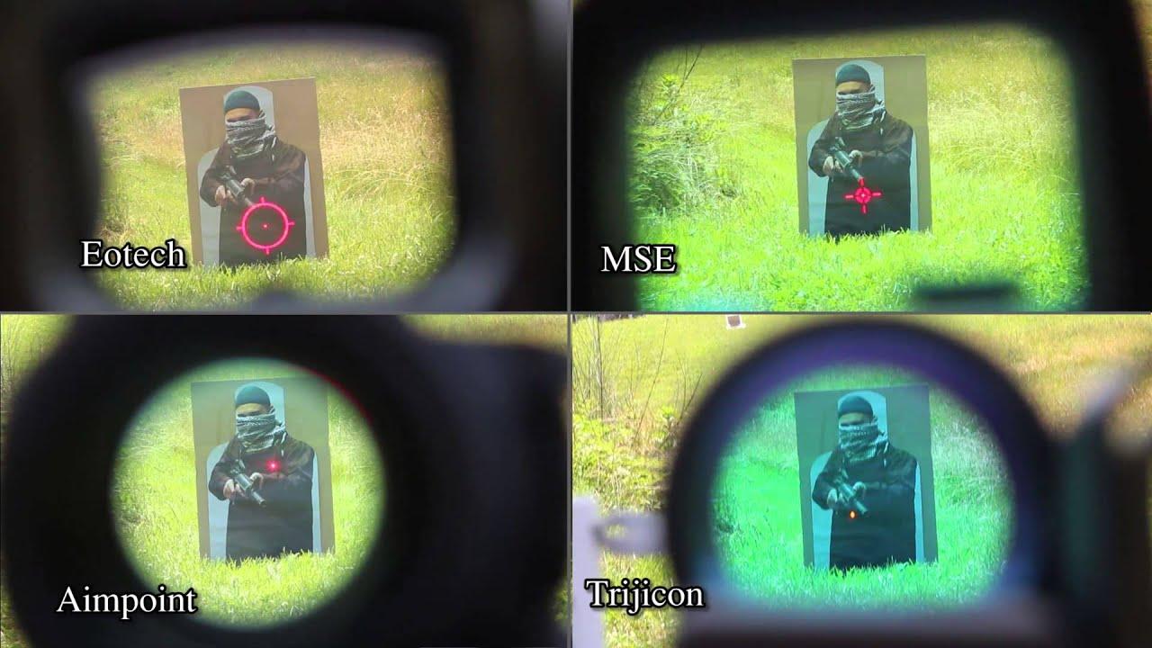 Reflex sight comparison - YouTube