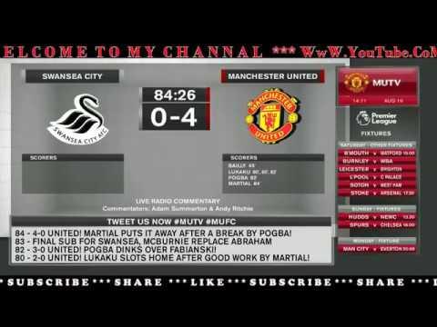 Swansea City vs Manchester United Live Stream I PREMIER LEAGUE 2017