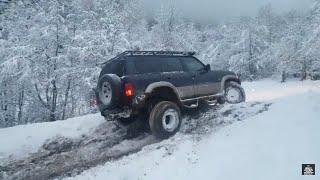 OFF-ROAD SNOW NISSAN PATROL Y60 VS Y61 VS TOYOTA PRADO VS DAIHATSU FEROZA
