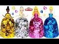 DIY Making Play Doh Super Sparkle Dresses for Disney Princesses