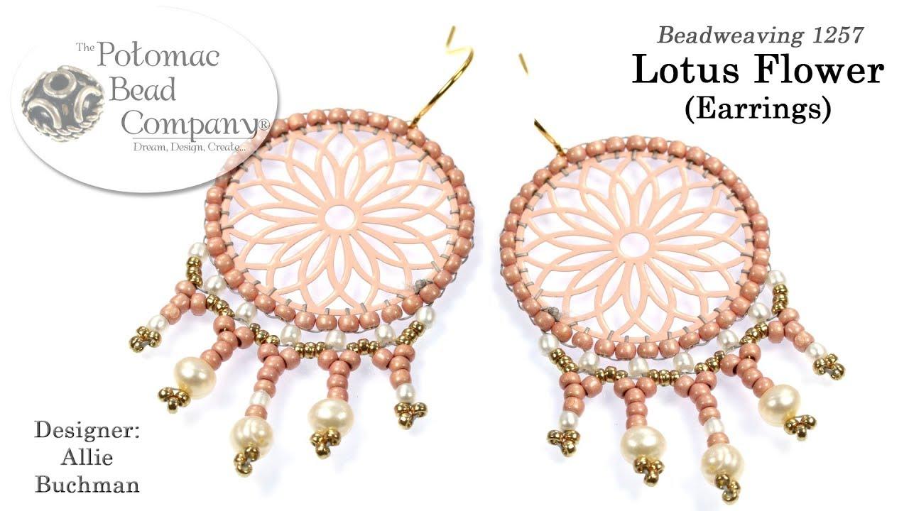 How To Make Lotus Flower Earrings Youtube