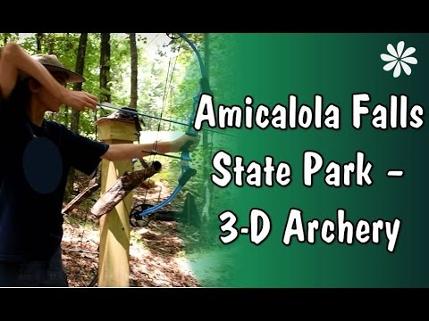 Family Travel - Amicalola Falls State Park 3D Archery, Georgia, USA