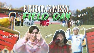 kingdom legendary war's messy field day w/ btob, ikon, sf9, the boyz, stray kids and ateez
