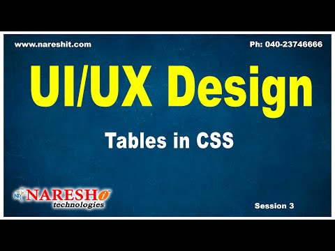 Session: 3 | Tables in CSS | CSS Tutorial | by Mr.Naveen Saggam thumbnail