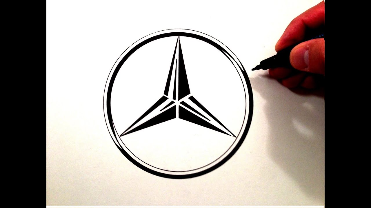 How to draw the mercedes benz symbol youtube how to draw the mercedes benz symbol biocorpaavc Image collections