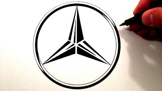 How to Draw the Mercedes Benz Symbol