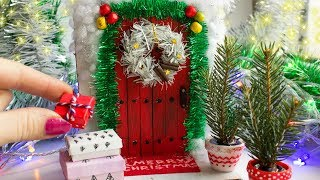Miniature Christmas Door ✼ EASY DIY ✼ Christmas Craft
