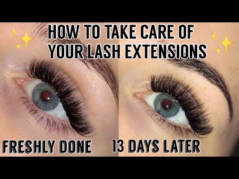HOW TO TAKE CARE OF YOUR LASH EXTENSION | HOW I CLEAN MY LASHES | Taylor Bairstow