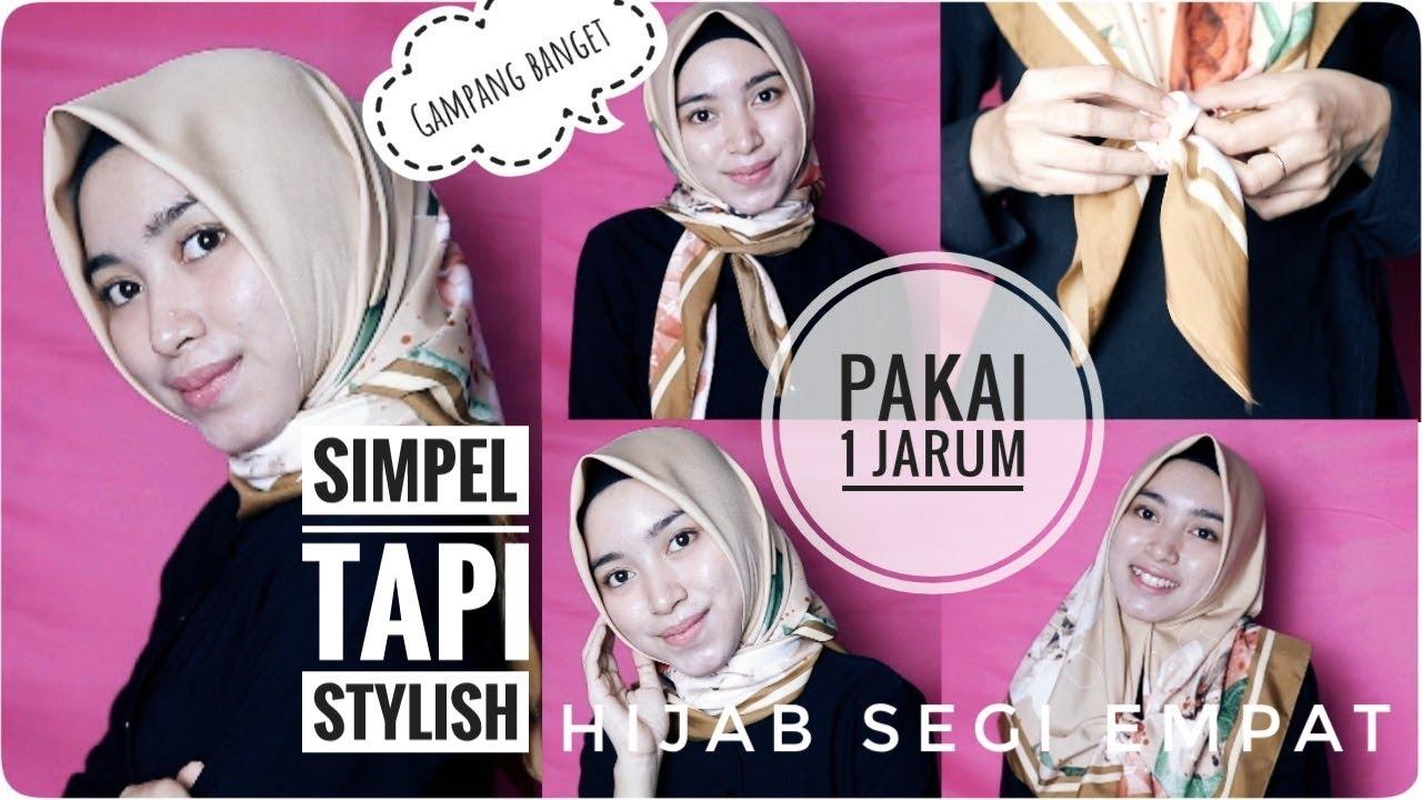 Tutorial Hijab Segi Empat Tanpa Jarum Pentul Sehari Hari Youtube