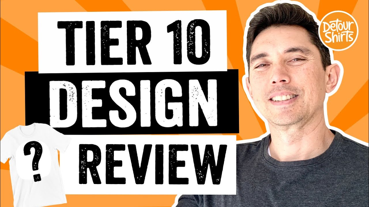 Tier 10 Design Review! I review and give recommendations for tshirt designs on Merch by Amazon.
