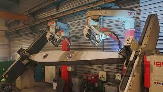 igm robotic welding at customer SBS Kft. Hungary - welding of steel parts
