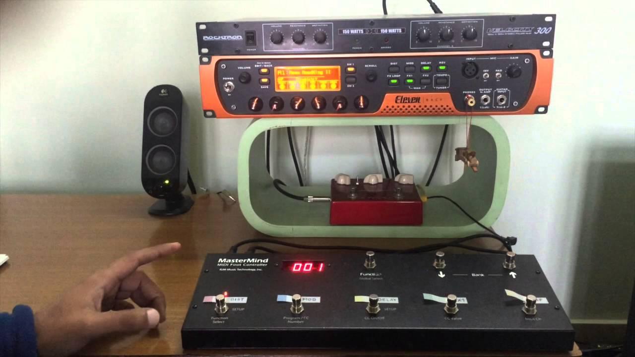 rjm mastermind midi foot controller setup w eleven rack youtube. Black Bedroom Furniture Sets. Home Design Ideas