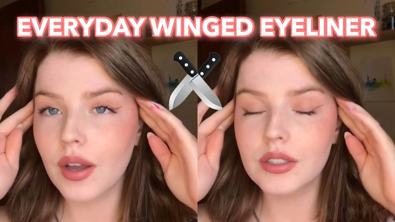 Download How I do my winged eyeliner | Easy everyday winged liner for beginners