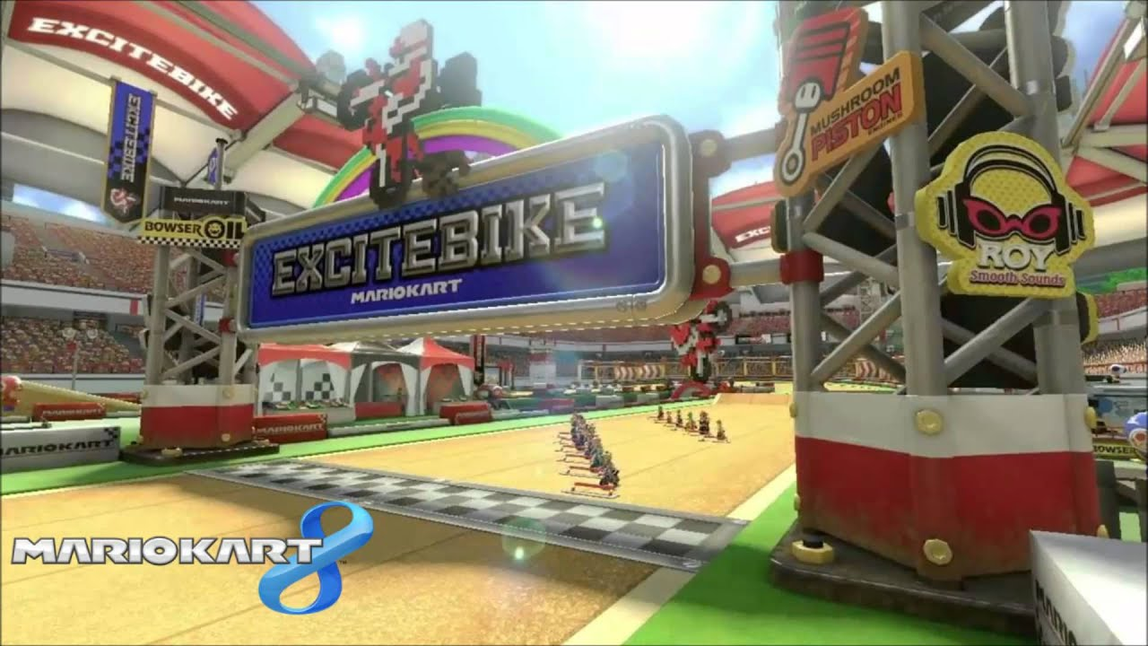Mario Kart 8: Excitebike Arena Music Extended