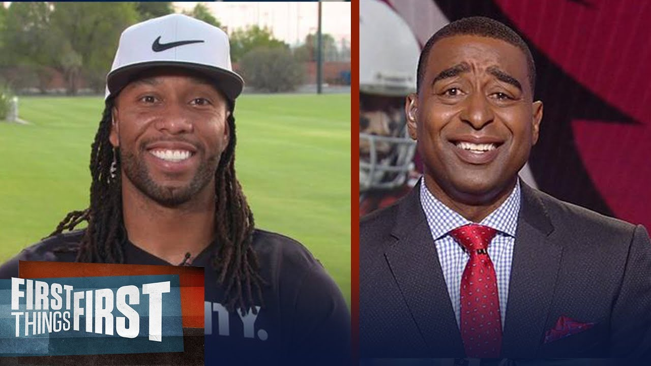 Larry Fitzgerald and Cris Carter on who has the better hands | FIRST THINGS FIRST