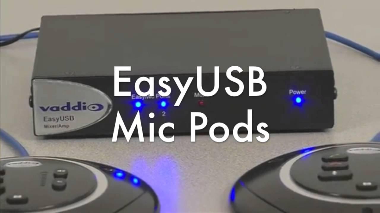 usb microphone audio system vaddio easyusb youtube. Black Bedroom Furniture Sets. Home Design Ideas