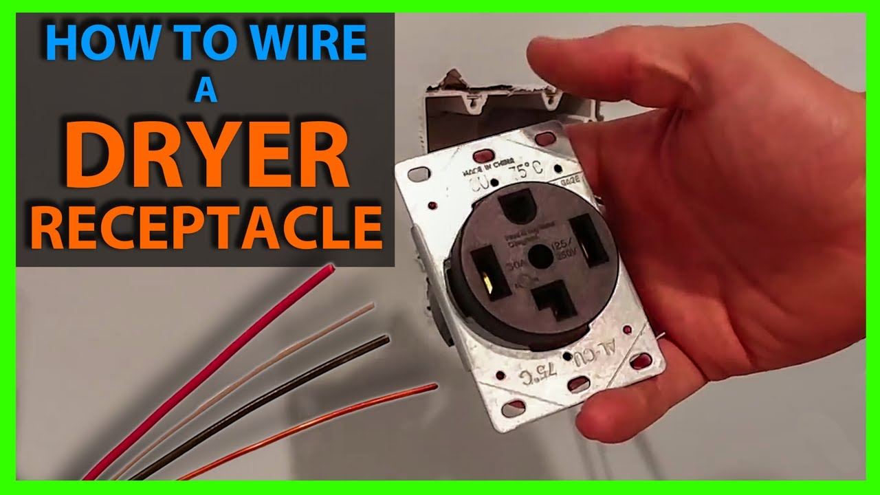 how to wire a dryer outlet or receptacle materials needed for rh youtube com wiring a dryer receptacle diagram installing a dryer receptacle