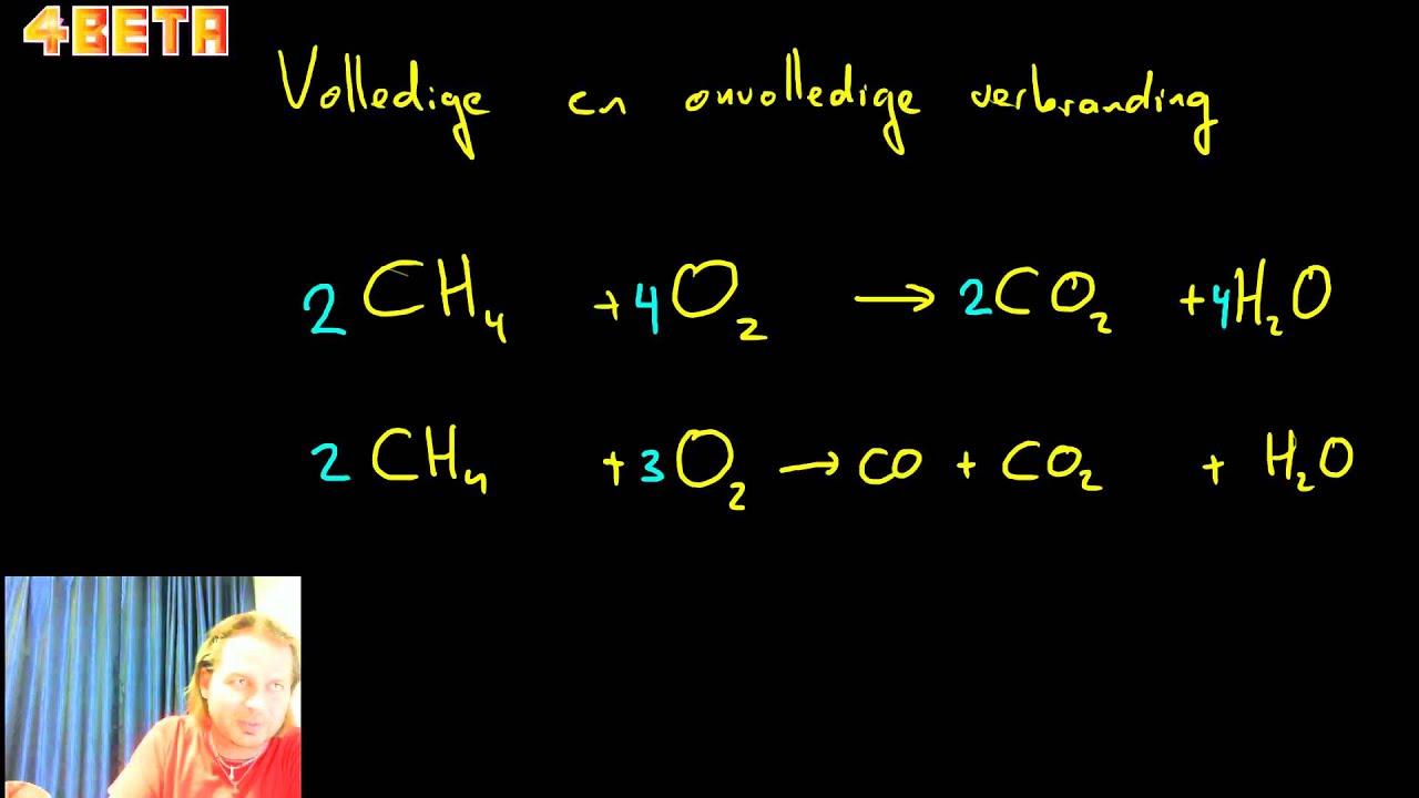 onvolledige verbranding aardgas