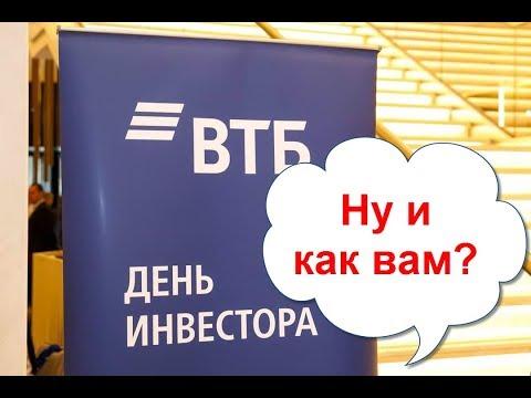 Прохождение опроса о Дне инвестора ВТБ (Екатеринбург) и презентации докладчиков