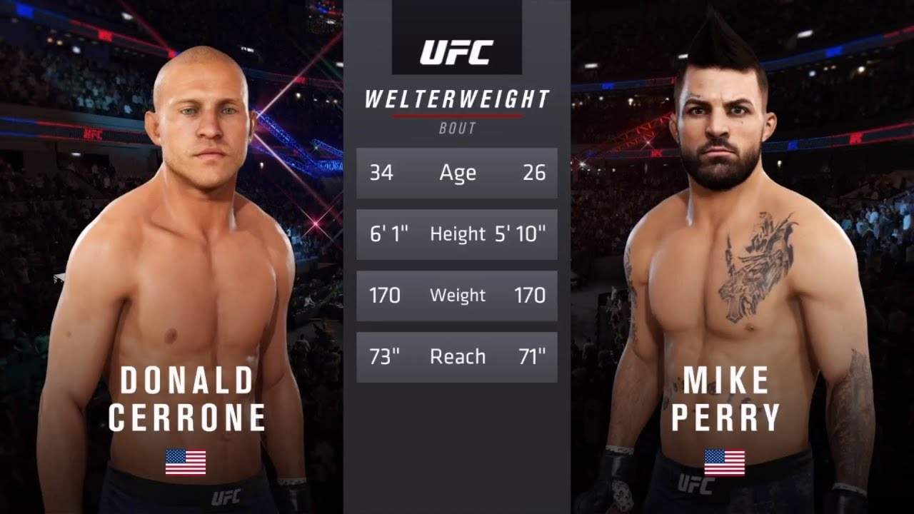 Donald Cerrone Vs Mike Perry Ea Sports Ufc 3 Cpu Vs Cpu Crazy Ufc Youtube