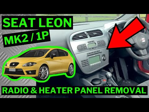 seat leon 1p mk2 stereo radio climate control heater. Black Bedroom Furniture Sets. Home Design Ideas