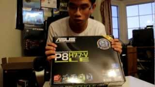 aSUS P8H77-V mother board  unboxing