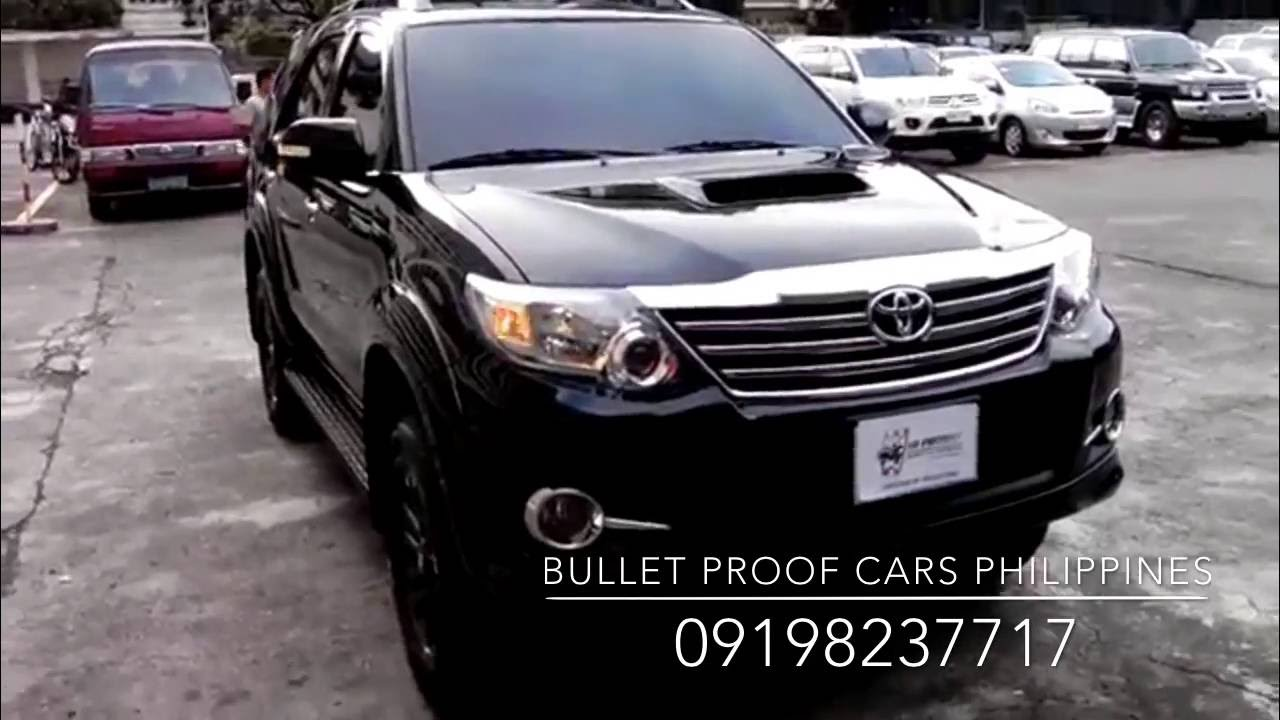 Bulletproof Cars Philippines Armored Fortuner 2015 B6  YouTube