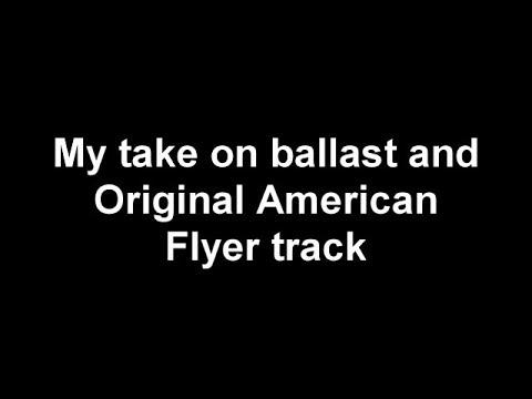 American Flyer Track Ballast
