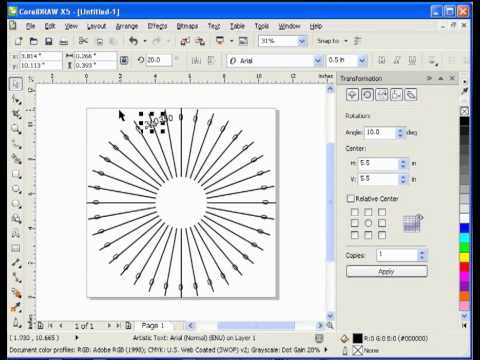 Creating Clock Faces In Corel Draw Method 2 Doovi