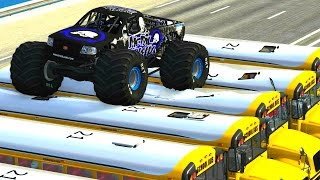 BeamNG Mod CRD Monster Truck Jumps,crushing cars&Crashes.