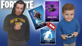 TRUMAnn & *5 YEAR OLD KID* Gastando V-Bucks en NUEVA 'Volley Girl' (GamePlay) y NUEVO Fortnite Dance.