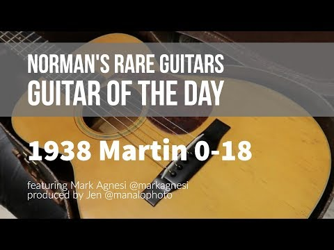 Norman's Rare Guitars - Guitar of the Day: 1938 Martin 0-18