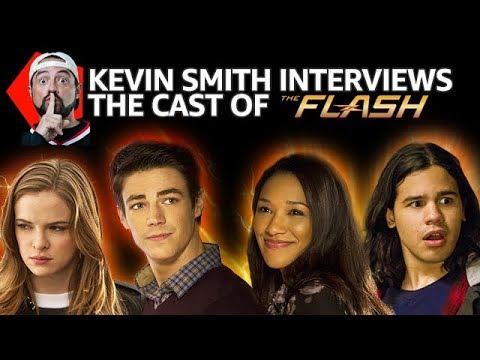 Kevin Smith Interviews The Flash's Grant Gustin, Candice Patton, Carlos Valdes + Danielle Panabaker