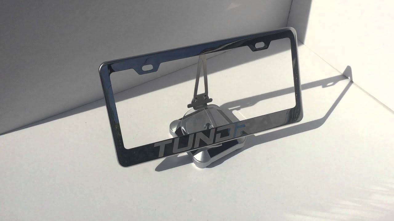 Tundra Laser Engrave Polish Stainless Steel License Plate Frame ...