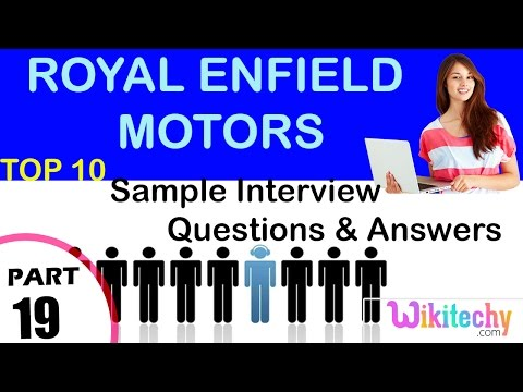 Royal Enfield Motors important interview questions and answers for freshers / experienced