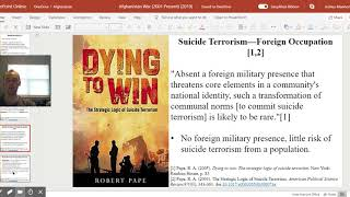 Why Suicide Terrorism? Defining Foreign Occupation (Afghanistan War)
