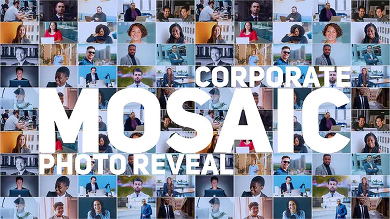 Mosaic Photo Reveal / Corporate Logo (After Effects Template) ★ AE Templates